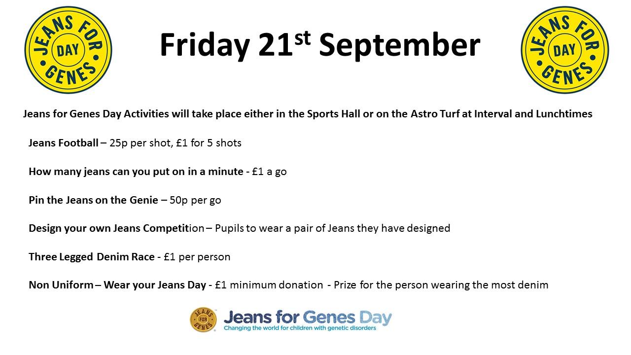 Arran High School | Jeans for Genes Day 2018